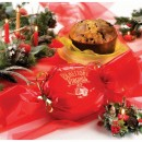 Amaretti Virginia Classic Panettone in Red Bon-Bon Wrapping