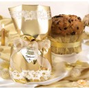 Amaretti Virginia Tall Panettone in Gold Gift Wrapping