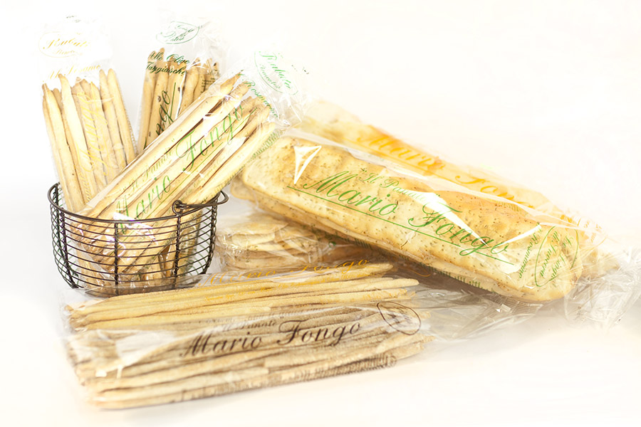 Hand made Italian Grissini – plain, olive, rosemary, sesame seed, maize & wholemeal.