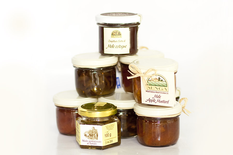 Mustard fruits, jams & truffle honey from Italy