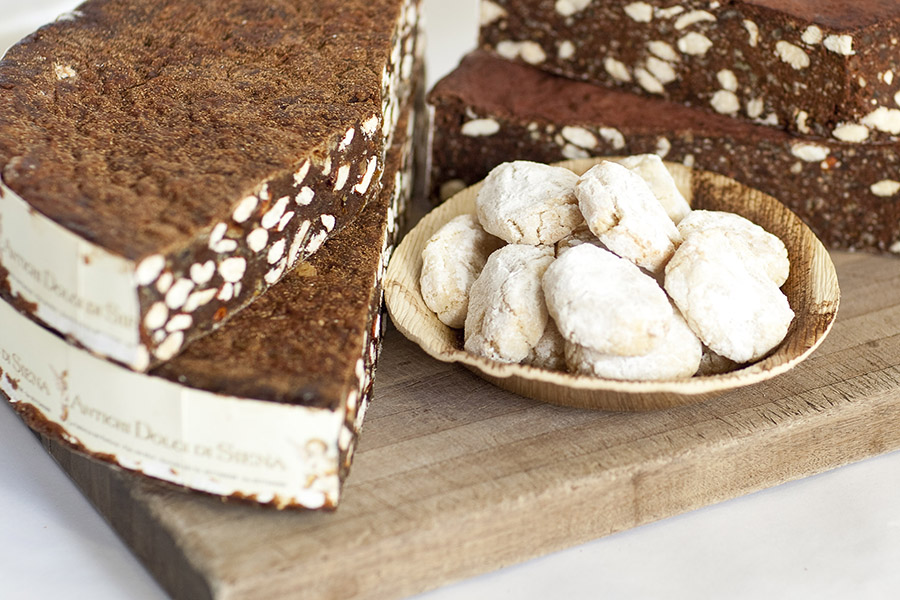 Panforte di Siena & air freighted ricciarelli bisciuts from Siena, Italy