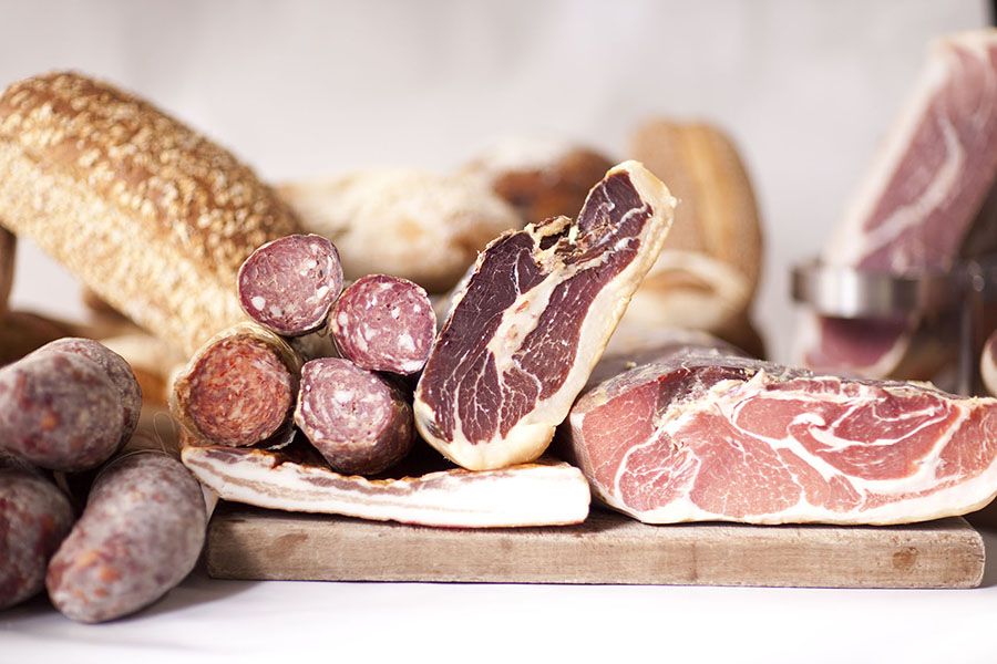 Premium cured hams available freshly sliced. Italy – Proscuitto San Daniele & Proscuitto di Parma. Spain – Jamon Serrano and Iberico. Local - Free Range Salami, leg ham, pancetta, bresola, mortadella, speck & culatello.