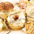 Amaretti Virginia Panettone with Glace Chestnut Cream in Gold Bon Bon Wrap