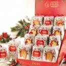 Amaretti Virginia Mini Pandoro in White and Holly Gift Box