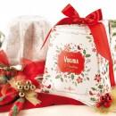 Amaretti Virginia Classic Pandoro 1kg in White and Holly Gift Box