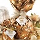Amaretti Virginia Mini Panettone in Gold and Bronze wrap