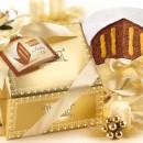 Amaretti Virginia Chocolate Panettone with Zuppa Inglese in Gold Gift Box